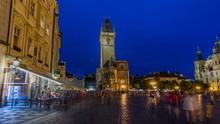 Prague Old Town Hall At Night ...