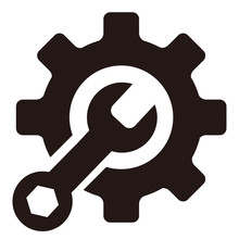 Wrench Tool Icon Vector Illustration