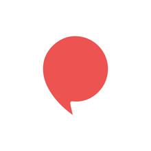 The Speech Bubble Icon Vector Illustration
