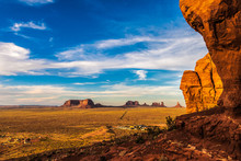 View Of The Monument Valley Na...