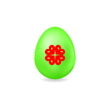 Easter Egg With Elements For S...