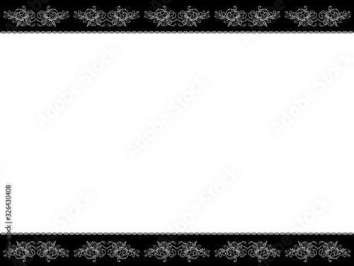Obraz na plátne Monochrome horizontal floral postcard