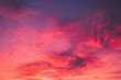 canvas print picture - Burning Sky Sunset horizontal