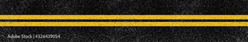 Fotografering lignes jaunes sur asphalte