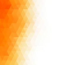 Orange Polygonal Mosaic Backgr...