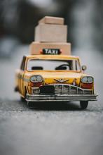 Vintage Toy Taxi Car