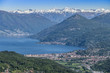 Landscape of Luino from mountains