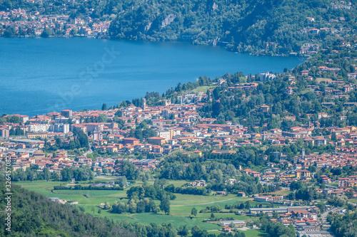 Valokuvatapetti Landscape of Luino from mountains