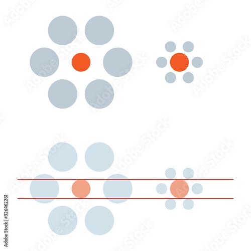 Ebbinghaus illusion Canvas-taulu