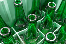 Empty Green Glass Beer Bottles...