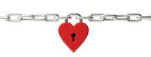Love Concept. Locked Red Heart...