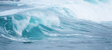 Big Waves Crushing On The Ocean Coastline On Stormy Weather Day
