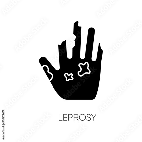 Photo Leprosy black glyph icon