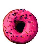 Pink Sprinkled Doughnut