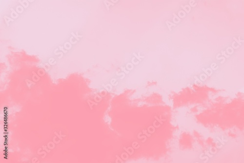 Pastel pink coral gradient abstract background. Pink watercolor abstract sky background