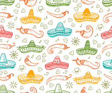 Colorful Mexican Seamless Patt...