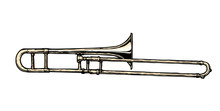 Illustration Of Trombone