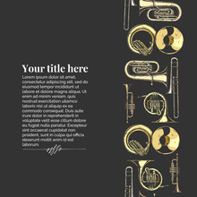 Template With Brass Musical In...