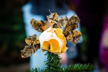 Butterflies On An Orange