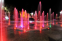 Blurred Colorful Fountain On T...