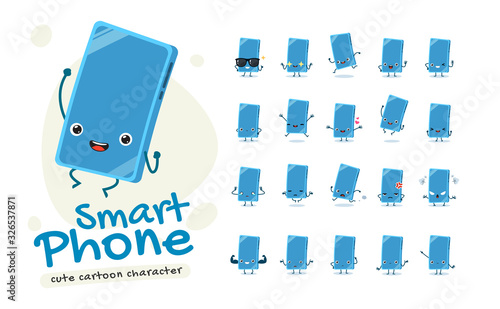 Mascot Set of the Smart phone Wallpaper Mural