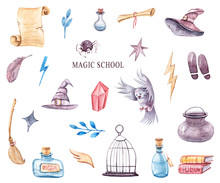 Watercolor Hand Painted Magica...