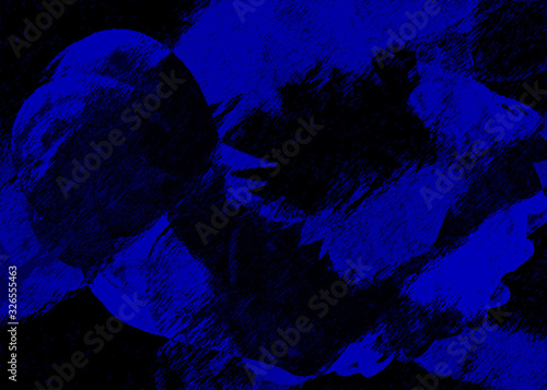 Fondo papelizado de color azul con textura de papel Canvas Print