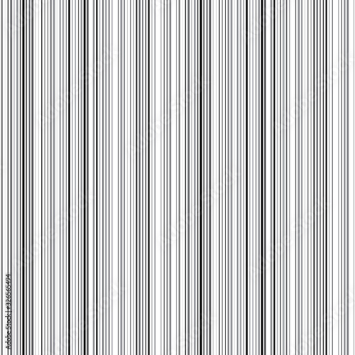 Seamless pattern with vertical black lines Wall mural