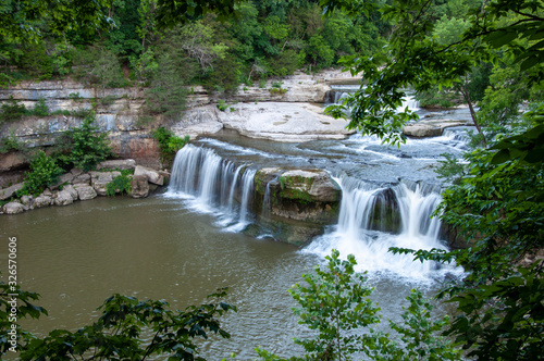waterfall in forest in Indiana - Jennings Township, IN - Upper Cataract Falls