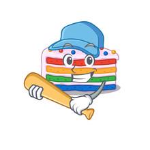 Smiley Funny Rainbow Cake A Ma...