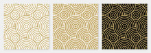 Background Pattern Seamless Geometric Line Circle Design Abstract Gold Luxury Color Vector. Christmas Background.
