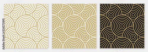 Background pattern seamless geometric line circle design abstract gold luxury color vector. Christmas background. - fototapety na wymiar