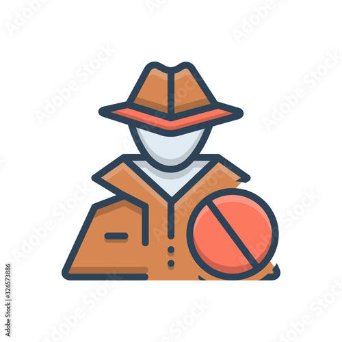 Photo Color illustration icon for anti theft