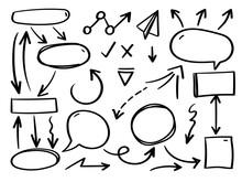 Business Arrows Hand Drawn Vec...