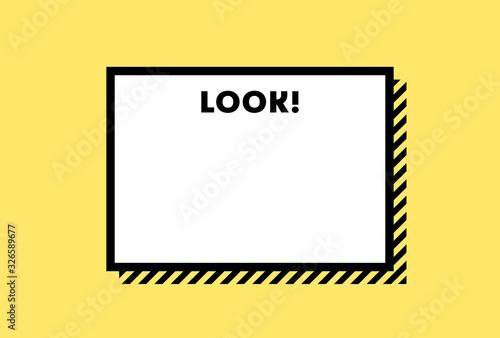 Photo メモ・警告・危険・防災イメージ素材:黄色と黒のシンプルな注意喚起用の背景素材(横長)