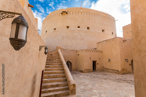 Vászonkép Nizwa Fort, Dec 2019: Details of fortifications and cannons, City of Nizwa, Oman