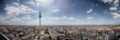 Panoramic view of Berlin city on a sunny day