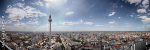 Panoramic view of Berlin city on a sunny day Fotobehang