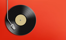 Vinyl Record Disc. Music Backg...