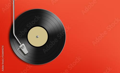 Fotografía Vinyl record disc. Music background with copy space