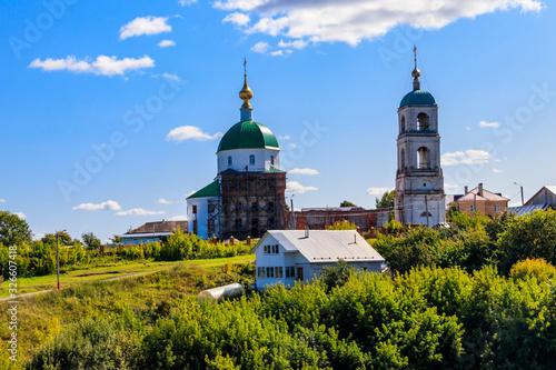 Holy Trinity Church in the village Karacharovo near Murom, Russia Canvas Print