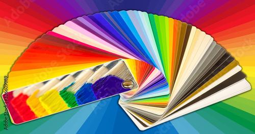 Photo Nuancier peinture spectre arc-en-ciel