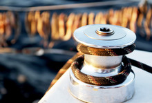 Yacht Winch With Rope And Fish...
