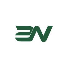 Letter 2n Line Geometric Linked Overlapping Logo Vector