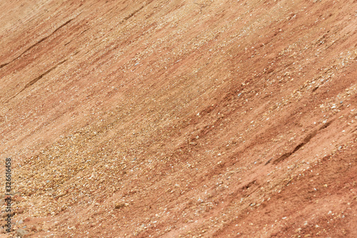 Fotomural Earth and rock slope closeup