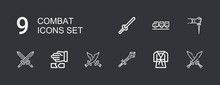 Editable 9 Combat Icons For We...