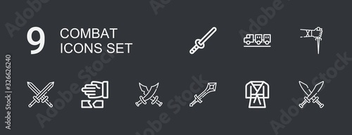 Cuadros en Lienzo Editable 9 combat icons for web and mobile