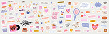 Beautiful Love Stickers With V...