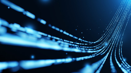 Virtual data transfer in network and internet