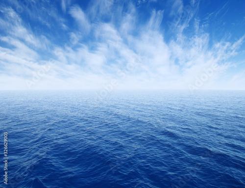 Obraz  sea with waves and sky - fototapety do salonu